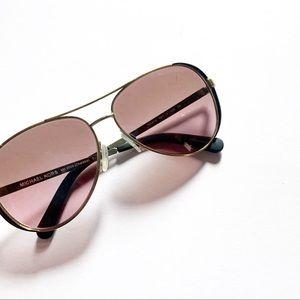 Michael Kors• rose lens Chelsea aviator sunglasses